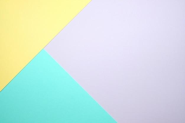 Fondo piatto di carta a colori pastello