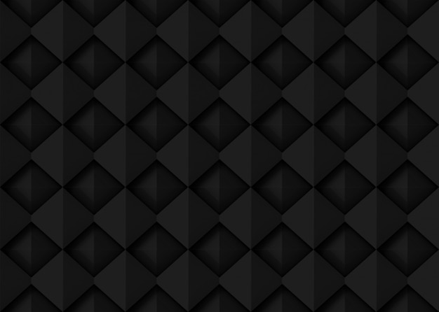 Fondo quadrato nero scuro senza cuciture della parete di progettazione di arte della griglia del modello.