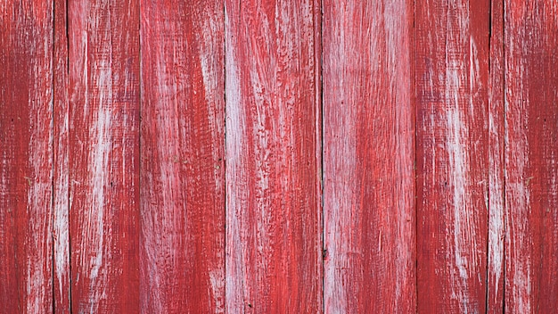 Fondo rosso della vecchia parete di legno dipinto struttura