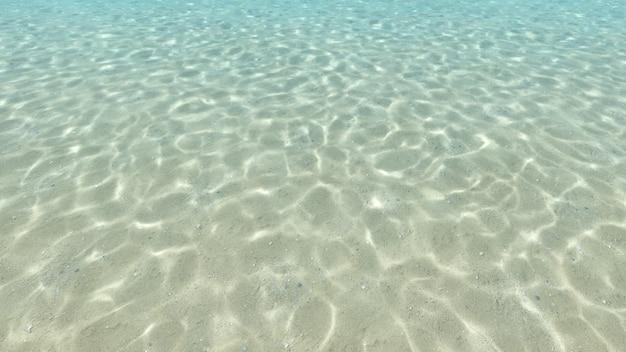 Fondo sabbioso, blu e superficie sott'acqua