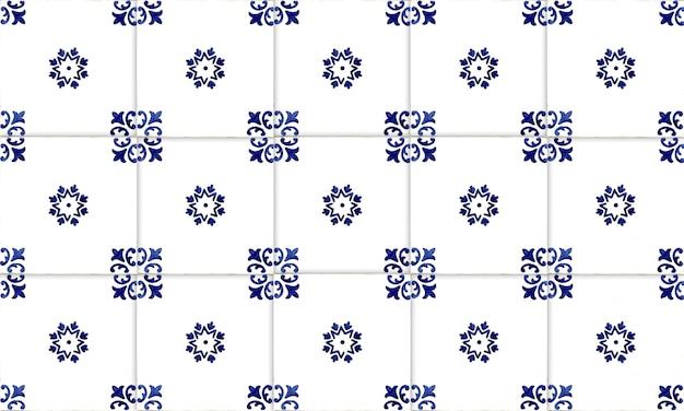 Fondo senza cuciture delle mattonelle di azulejo del portogallo o della spagna. alta risoluzione.