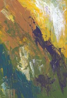 Fondo strutturato antico verde, marrone e giallo ruvido.
