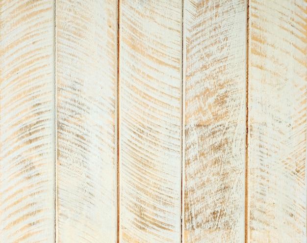 Fondo strutturato di legno bianco e marrone di progettazione d'annata della pittura