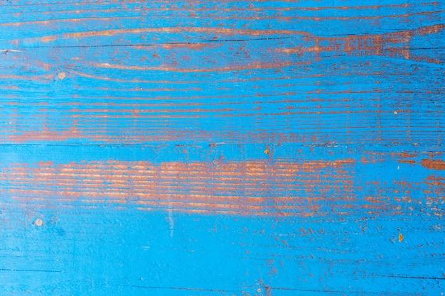 Fondo strutturato di legno blu di vecchio lerciume.