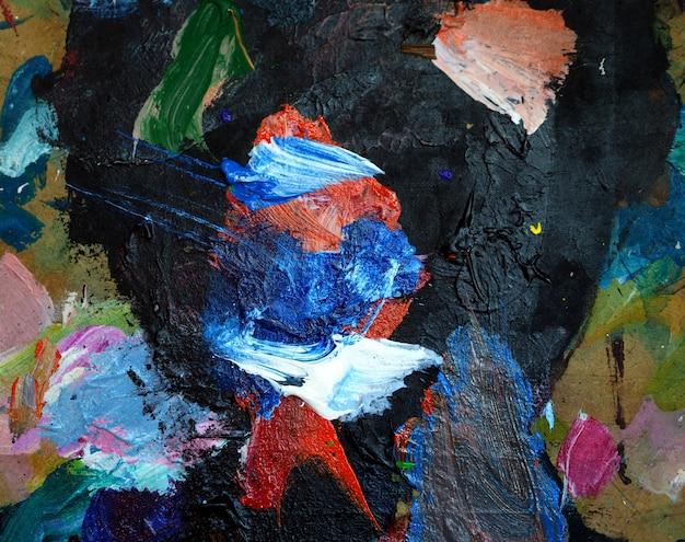 Fondo variopinto dell'estratto di struttura della pittura a olio di tiraggio della mano