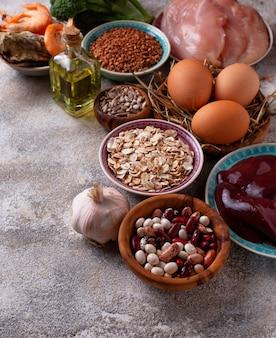 Fonti di prodotti sani di selenio.