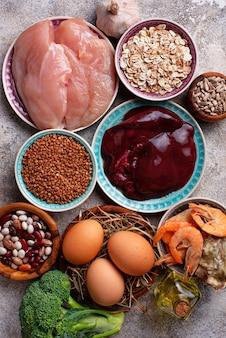 Fonti di prodotto salutari di selenio.
