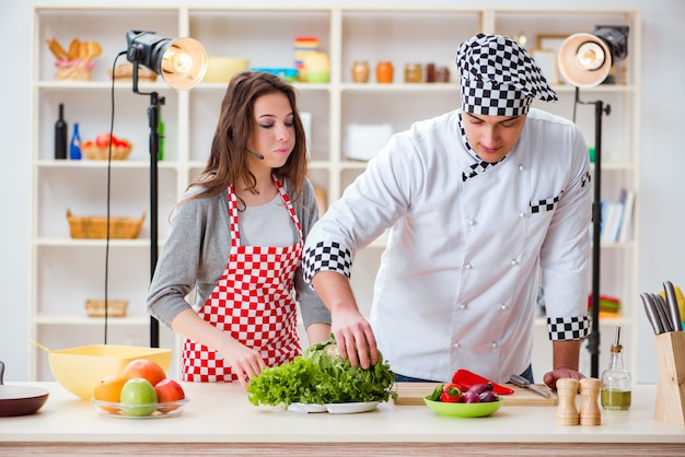 Food cooking show televisivo in studio