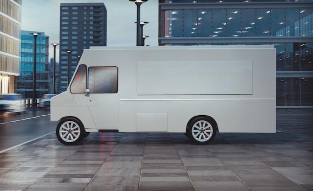 Food truck parcheggiato sulla streeet