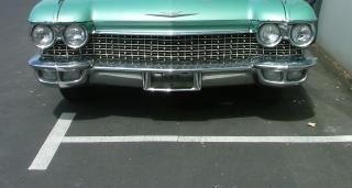 Ford thunderbird verde, il restauro