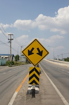 Fork nel cartello stradale