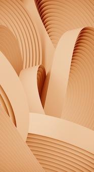 Forma astratta minima per la presentazione del prodotto. forma geometrica circolare color crema. illustrazione di rendering 3d.