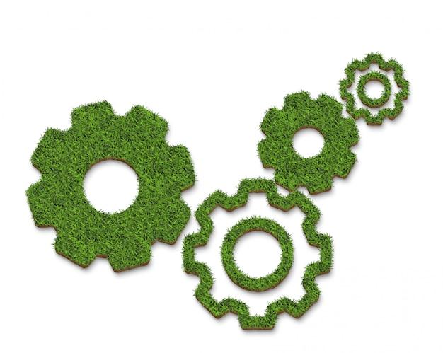 Forma dell'ingranaggio verde