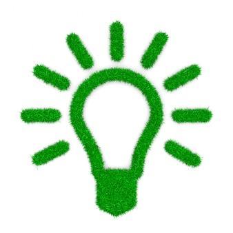 Forma di simbolo della lampadina dell'erba