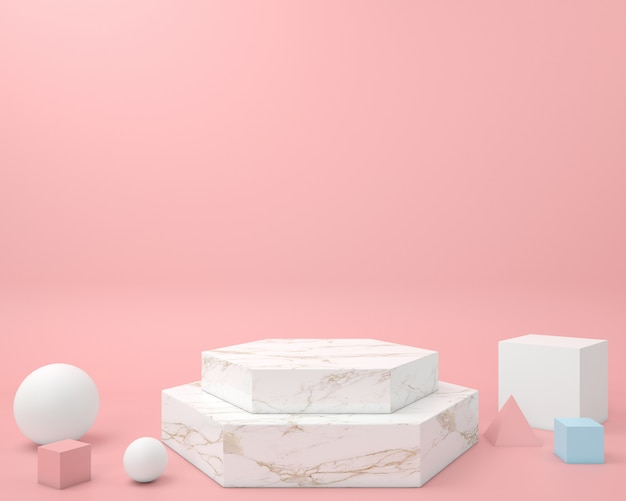 Forma geometrica astratta modello di colore pastello minimal stile moderno muro, per tavolo espositore podio stand