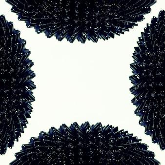 Forma moderna di metallo liquido ferromagnetico con spazio di copia