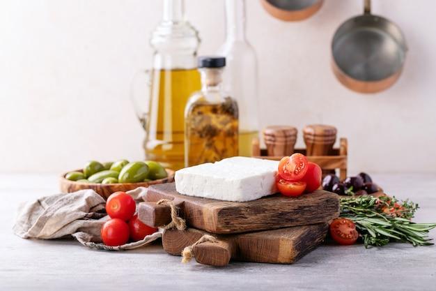 Formaggio greco tradizionale di capra feta antipasto