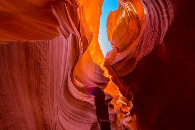 Formazione rocciosa naturale del canyon dell'antilope