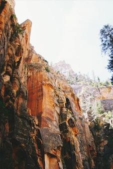 Formazioni rocciose nel parco nazionale di zion, stati uniti d'america