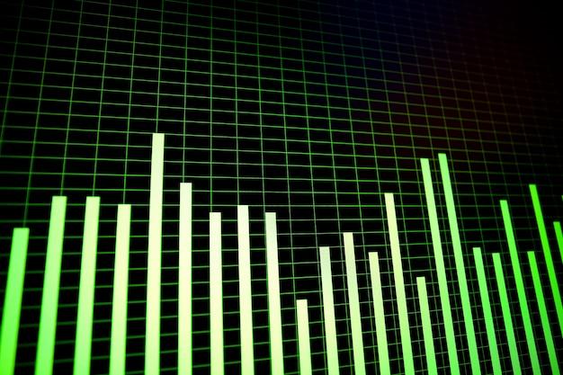 Forme d'onda e spectogrammi sullo schermo del computer in dettaglio