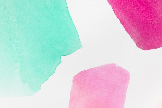 Forme geometriche astratte di macchie dipinte a mano