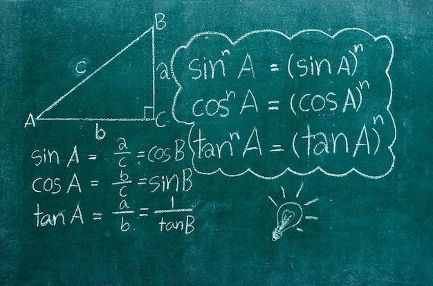 Formule matematiche su una lavagna
