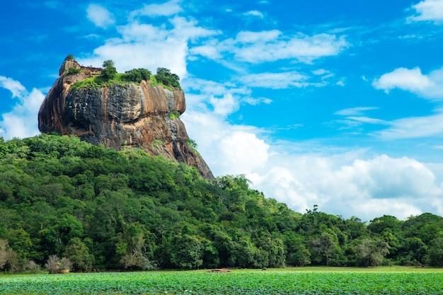 Fortezza della roccia di sigiriya lion in sri lanka