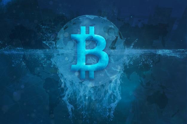 Foto di catena bitcoin block criptovaluta