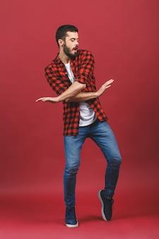 Foto di giovane bello ballare