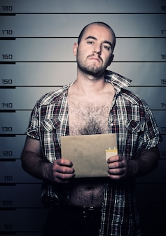 Foto di uomo arrestato