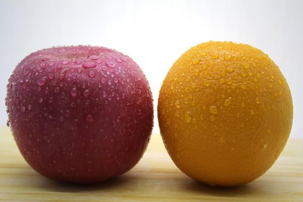 Foto fresche di agrumi e mele 3