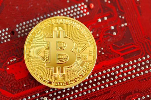 Foto golden bitcoin