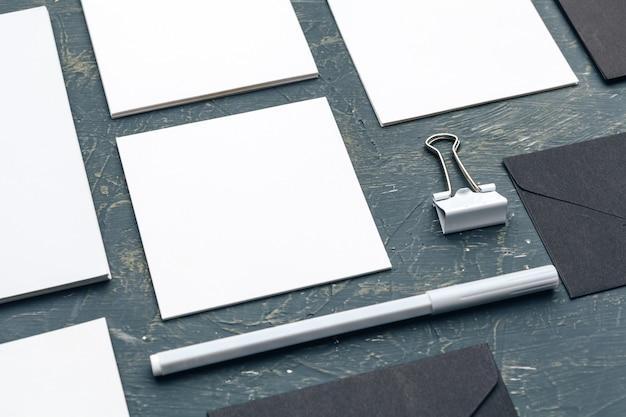 Foto. identità di branding del modello. per presentazioni e portfolio di graphic designer