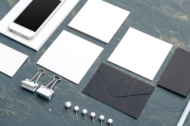 Foto. modello per l'identità del marchio. per presentazioni e portfolio di graphic designer