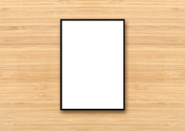 Foto su una parete di legno