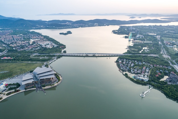 Fotografia aerea cinese città