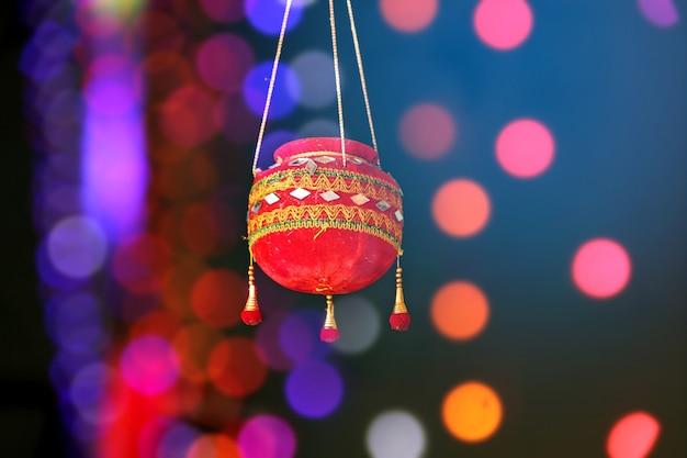 Fotografia del festival di dahi handi in india