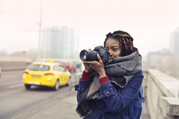 Fotografo afro estremo