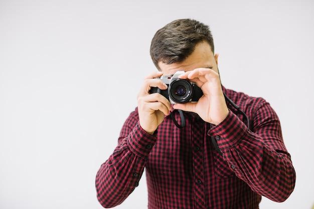 Fotografo, presa, immagine
