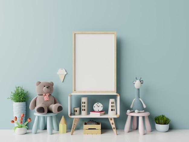 Frame frame nell'interno della stanza dei bambini.
