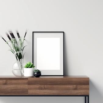 Frame mockup con bellissime decorazioni