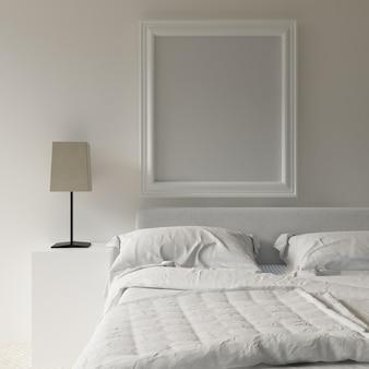 Frame mockup in bedroom