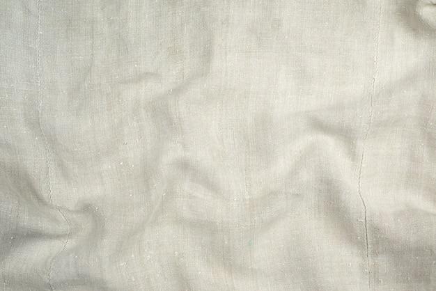 Frammento di un tessuto di lino molto vecchio fatto in casa