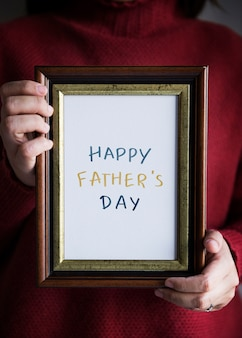 Frase happy father's day in una cornice