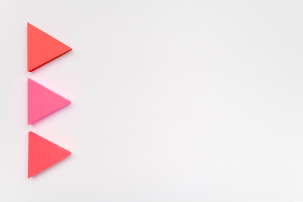 Frecce in colori pastello