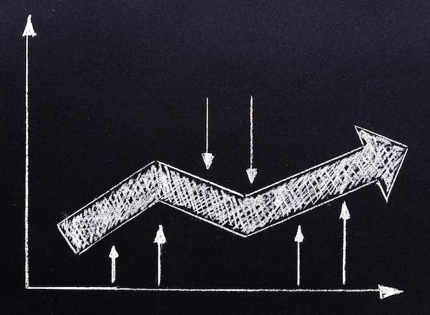 Freccia disegnata con il gesso