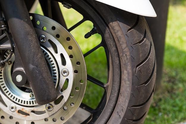 Freno a disco di moto eco, sfondo moto scooter