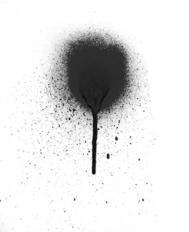 Fresca spruzzata di vernice spray spruzzi