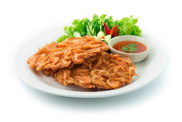 Fried thai freshwater shrimps croccante fried thai food