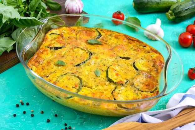 Frittata con zucchine e formaggio